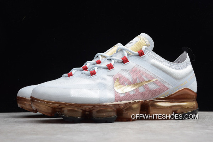 "3837172e48c Nike Air VaporMax 2019 ""Chinese New Year"" Pure Platinum Metallic Gold-Gym"