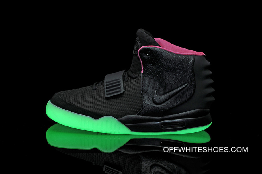 e8c5afd66daaa Best Nike Air Yeezy 2 Black Solar Red Glow In The Dark