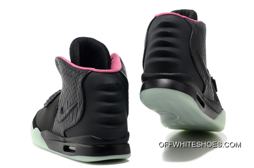 dd9d659d4b2 Best Nike Air Yeezy 2 Black Solar Red Glow In The Dark