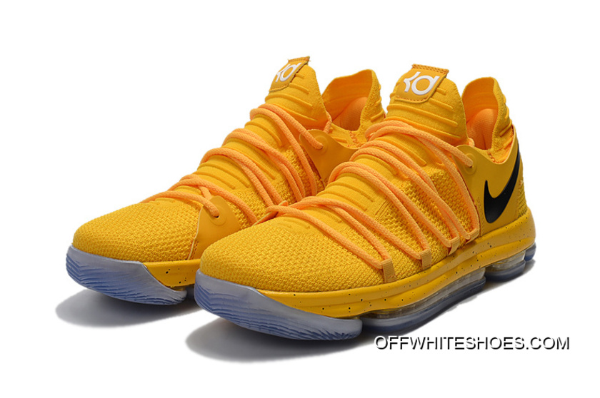 best website 5a147 3ee4a Nike KD 10 Yellow Black Outlet