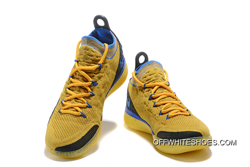 1c468098a504 Kevin Durant s Nike KD 11 Yellow Black-Blue Shoes Free Shipping Discount