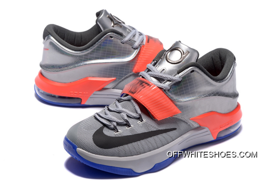 """hot sale online b1002 19bb2 Nike KD 7 """"All-Star"""" Pure Platinum/ Multi-Color-Black Off-White Top ..."""