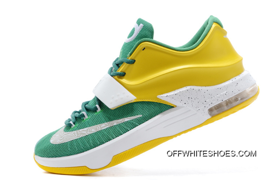 "a8f47ddbe28 Nike Kevin Durant KD 7 VII ""Draft Day"" Apple Green Yellow Strike ..."