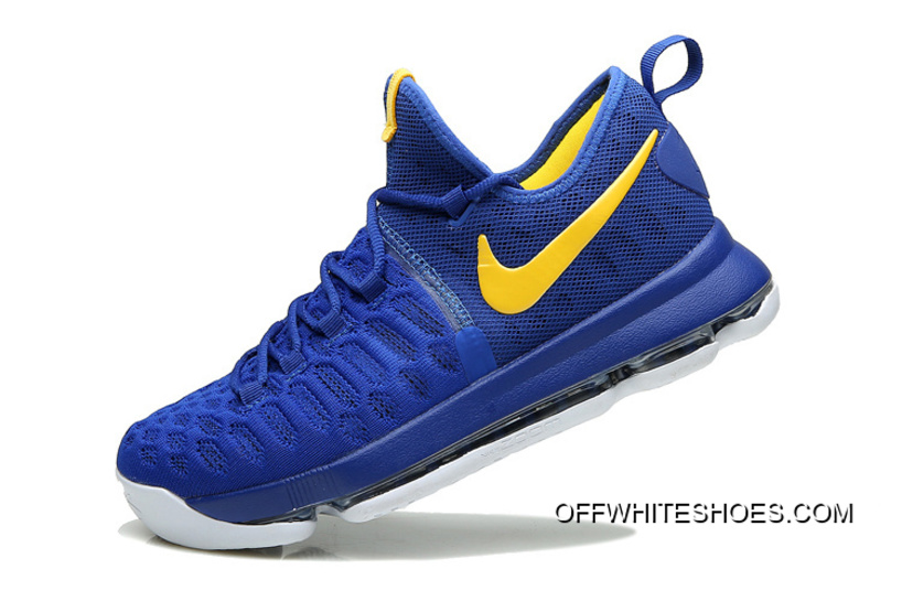"""6413c698248f Nike KD 9 """"Golden State Warriors"""" Blue Yellow White Off-White Best ..."""