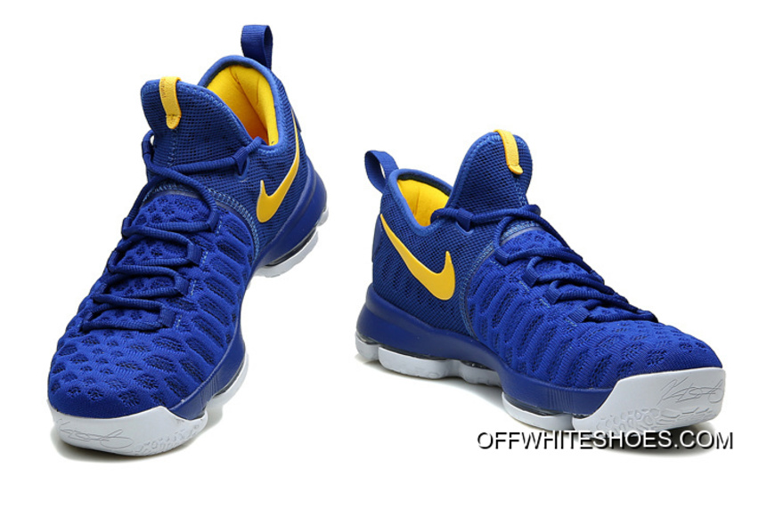 "new product 89c91 2de58 Nike KD 9 ""Golden State Warriors"" Blue Yellow White Off-White Best"