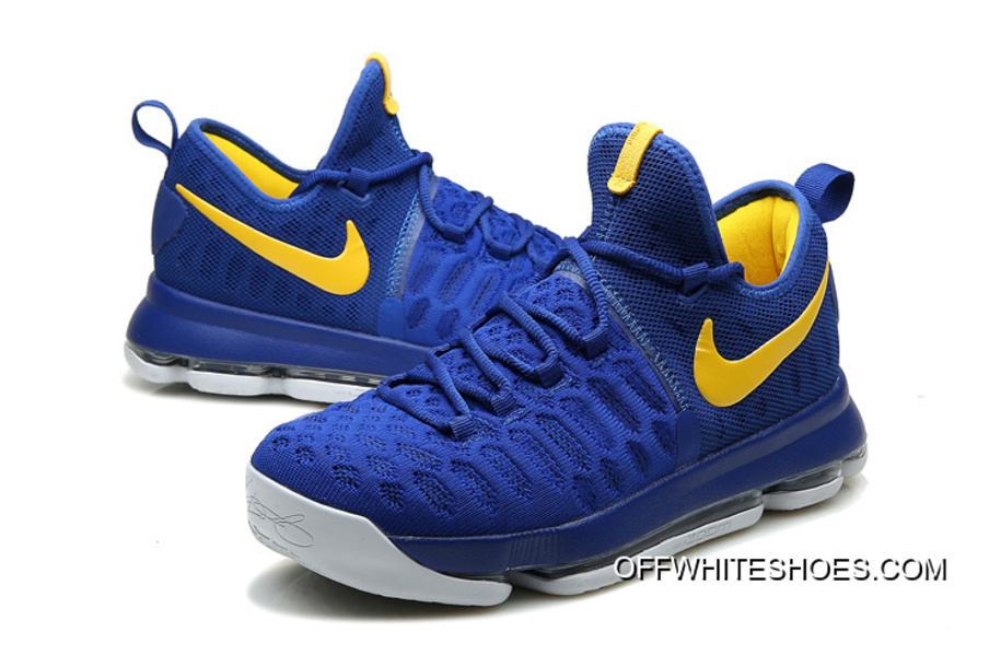 """Nike KD 9 """"Golden State Warriors"""" Blue Yellow White Off-White Best"""