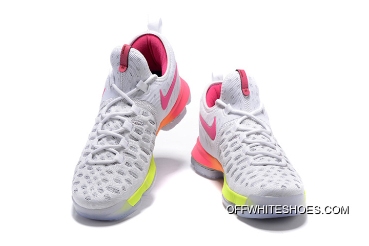 a0f6fcceb00f Nike KD 9 White Pink Volt Yellow Best