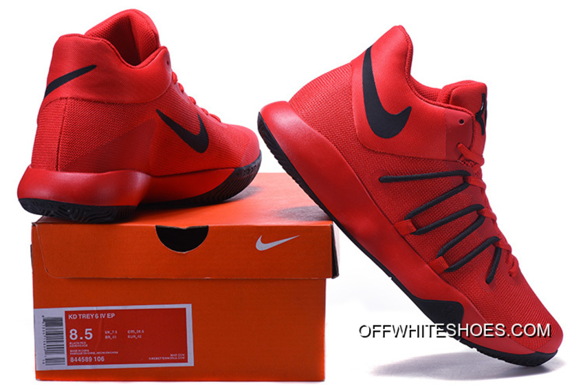 05bb4cf4cfd3 Super Deals Nike KD Trey 6 Red Black Basketball Shoes