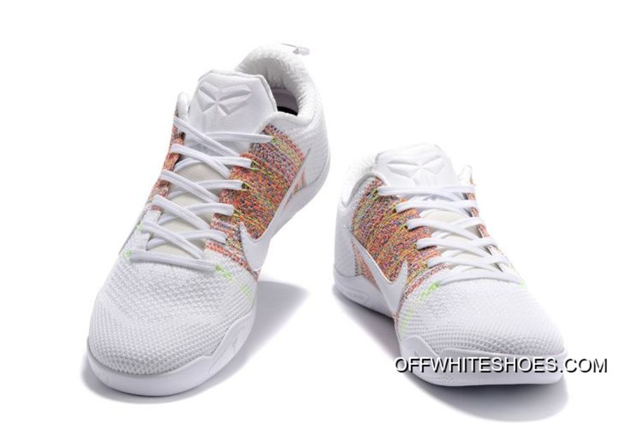 "6c89701fa28e Off-White Authentic Nike Kobe 11 Elite ""4KB"" White Horse Multicolor ..."