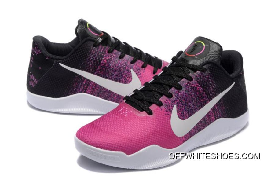 7852132b1e16 Nike Kobe 11 Black Think Pink-White Shoes Free Shipping