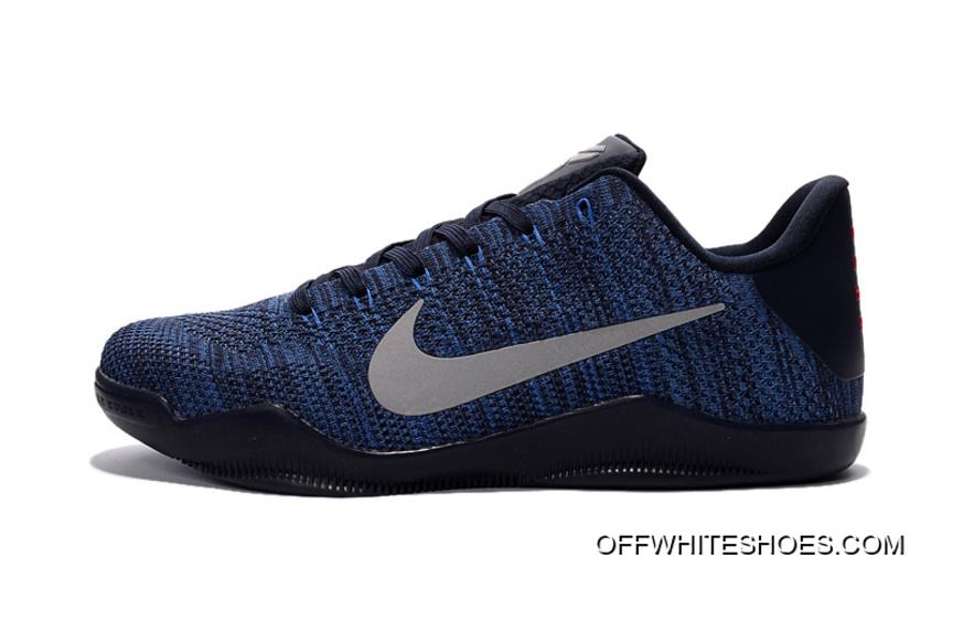 fd2317d094ff Outlet Nike Kobe 11 Flyknit Blue Basketball Shoes