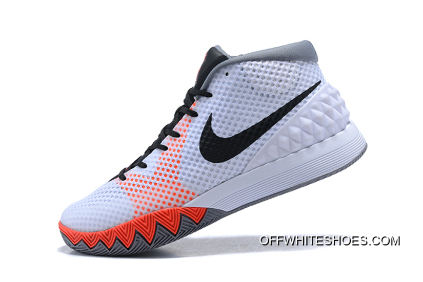 """f2b583148914 Free Shipping Nike Kyrie 1 """"Home"""" White Black-Dove Grey-Infrared ..."""