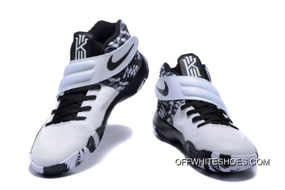 big sale d9059 1f404 Latest Nike Kyrie 2 Black White Basketball Shoes