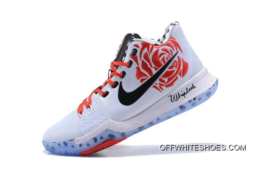 "best service 5c57c 7c444 New Release Sneaker Room X Nike Kyrie 3 ""Mom"" White Red Rose"