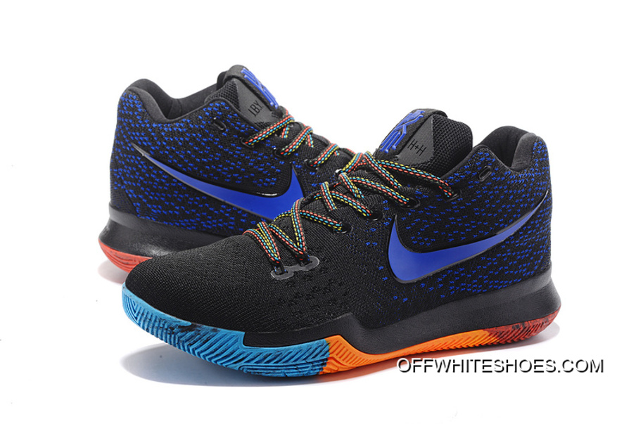 100% authentic c4b50 c5732 official super deals nike kyrie 3 black royal blue red 93610 386bf