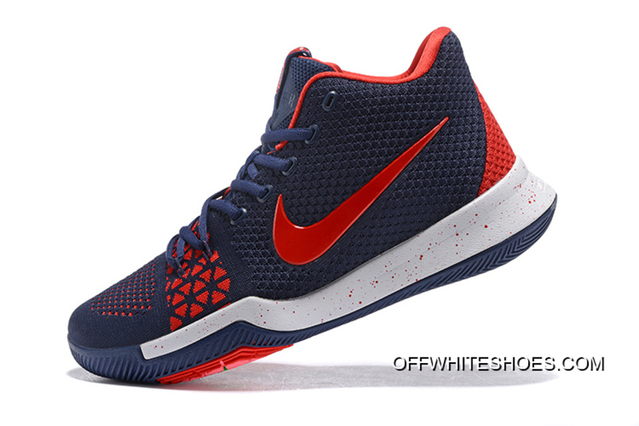 16286d2e12ea Free Shipping Nike Kyrie 3 Navy Blue Red