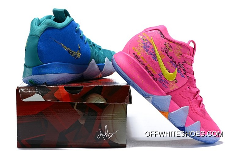 "new products ea1c0 59bb3 Nike Kyrie 4 ""What The"" Pink/Teal Christmas Online"