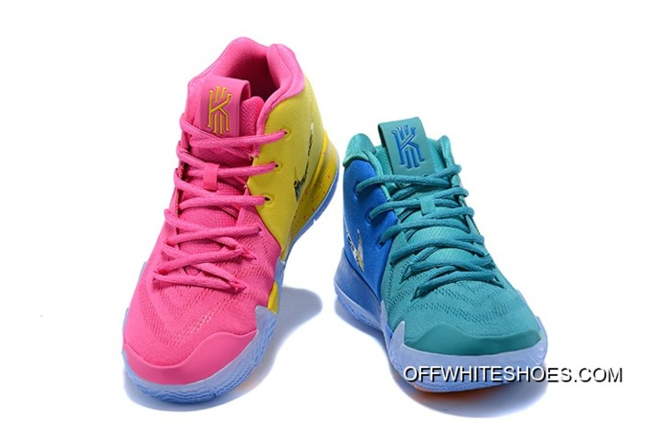 "8c3d098519f Nike Kyrie 4 ""What The"" Pink Teal Christmas Online"