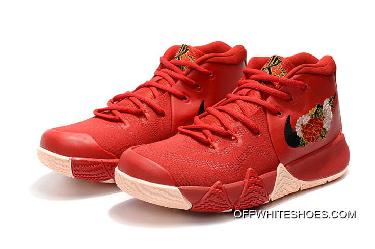 """b90e803231c6 Best Nike Kyrie 4 """"Floral"""" Red Peony"""
