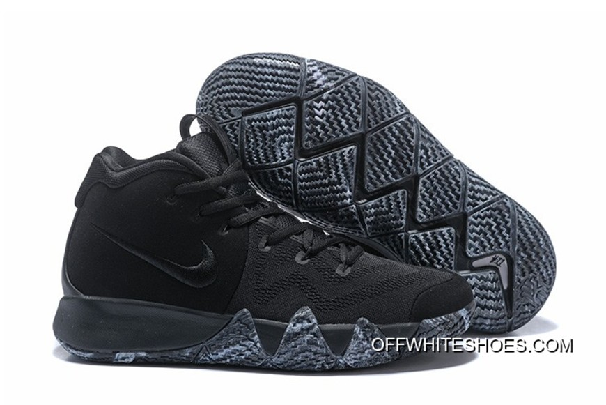 "7b2fefa9e8a Nike Kyrie 4 ""Triple Black"" For Sale"