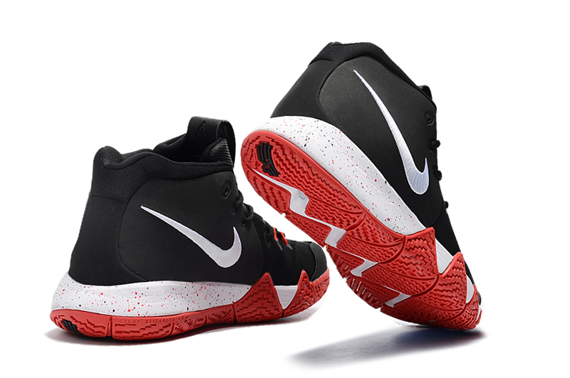 sports shoes 3bbd2 b4603 New Style Nike Kyrie 4 Black Red-White
