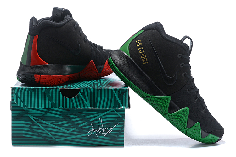 """competitive price 98a16 74790 Top Deals Nike Kyrie 4 """"BHM"""" Black/Green/Red/Metallic Gold"""
