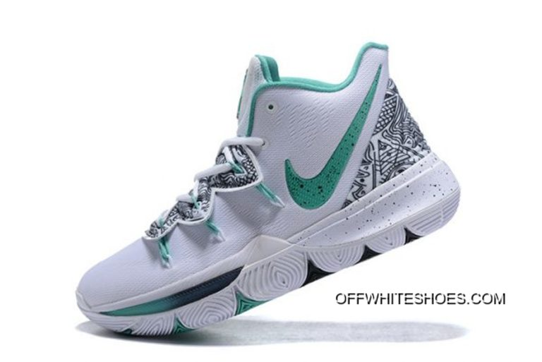 """24015aaa8282 Nike Kyrie 5 """"Unveiled"""" PE White Mint Green-Black Authentic"""