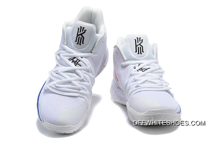 3a0dfac5145e9c New Style Nike Kyrie 5 Uconn PE White Red-Blue