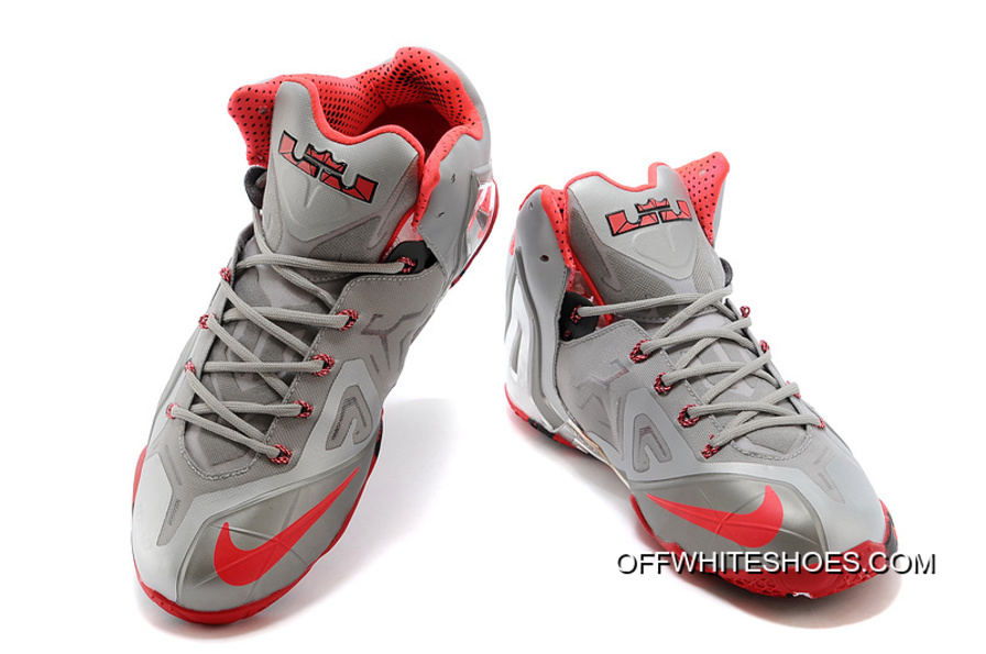 "lowest price a16a6 89bff Free Shipping Nike LeBron 11 Elite ""Team"" Wolf Grey Crimson-Cool Grey"