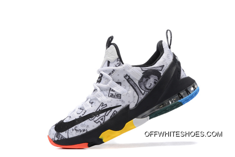 """ed37bf27ce389 Nike LeBron 13 Low """"LeBron James Family Foundation"""" Off-White New Release"""