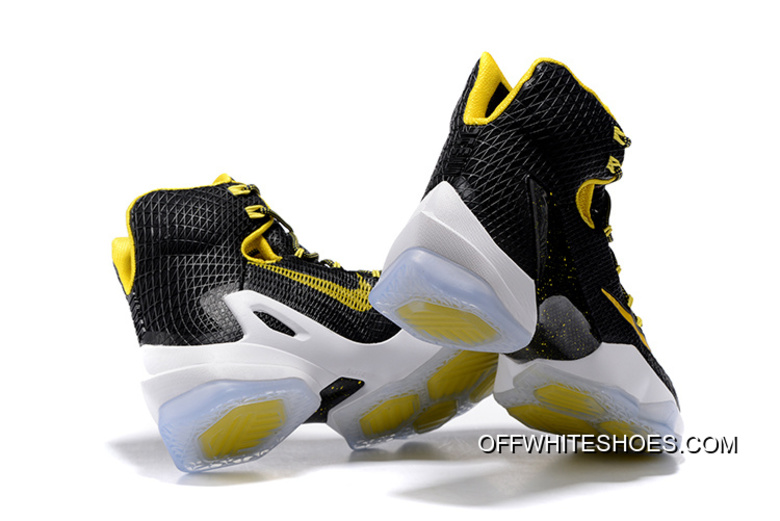 new style 9f2f2 2b344 For Sale Nike LeBron 13 Elite Black Yellow-White Basketball Shoes