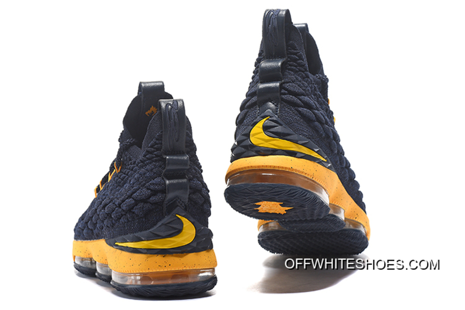 811076e947c7 For Sale Nike LeBron James 15 Midnight Navy Yellow