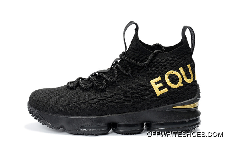 "b6b150f09ea Nike LeBron 15 ""EQUALITY"" PE Black Metallic Gold Top Deals"