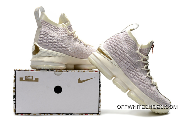 "2c474719a0c Latest Men s KITH X Nike LeBron 15 ""Rose Gold"" Long Live The King Basketball"
