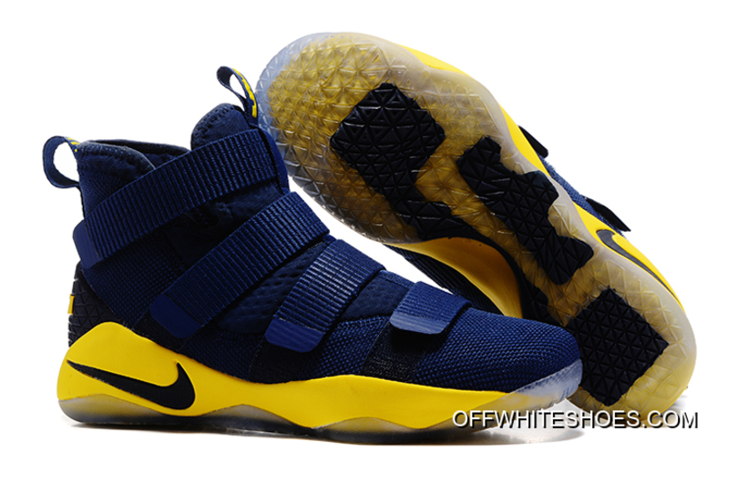 Top Deals Nike LeBron Soldier 11 Navy Blue/Yellow-Black