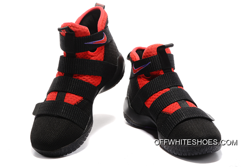 85c4f439488 Nike LeBron Soldier 11 Black Red Purple For Sale