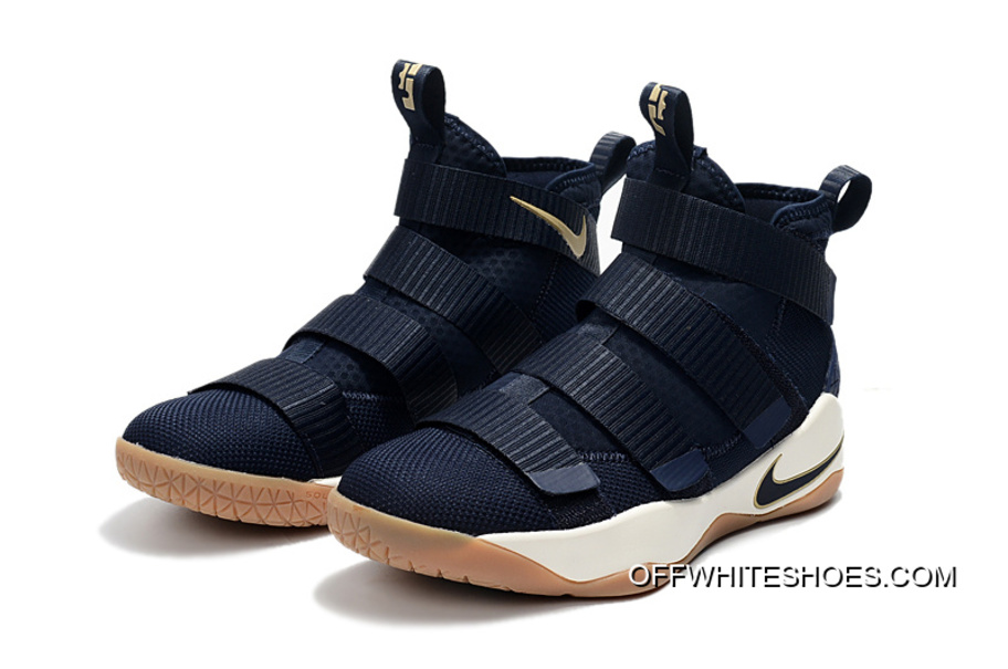 "97f83dbcc596 Nike LeBron Soldier 11 ""Cavs Alternate"" Midnight Navy Metallic Gold-White  For"