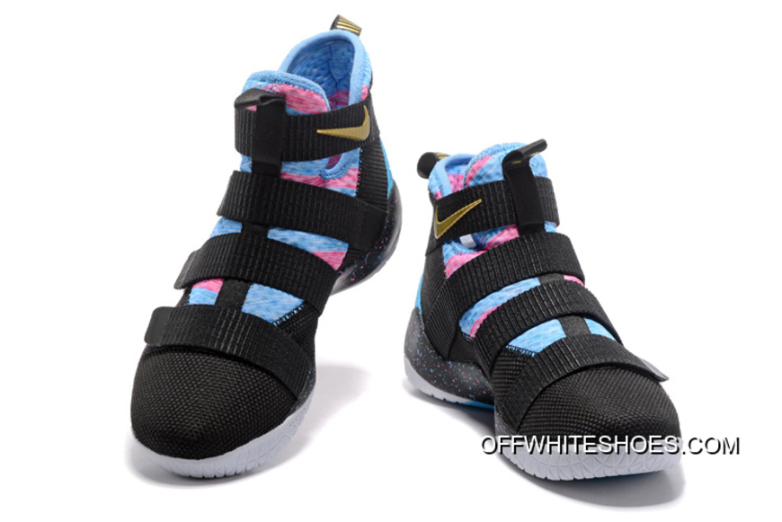 competitive price 0c1e2 33274 Copuon Nike LeBron Soldier 11 Black Sky Blue Multi-Color