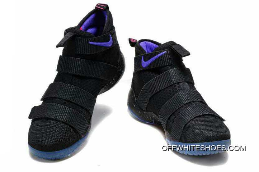 e23b326b1ed3 Nike LeBron Soldier 11 Black Purple Pink For Sale