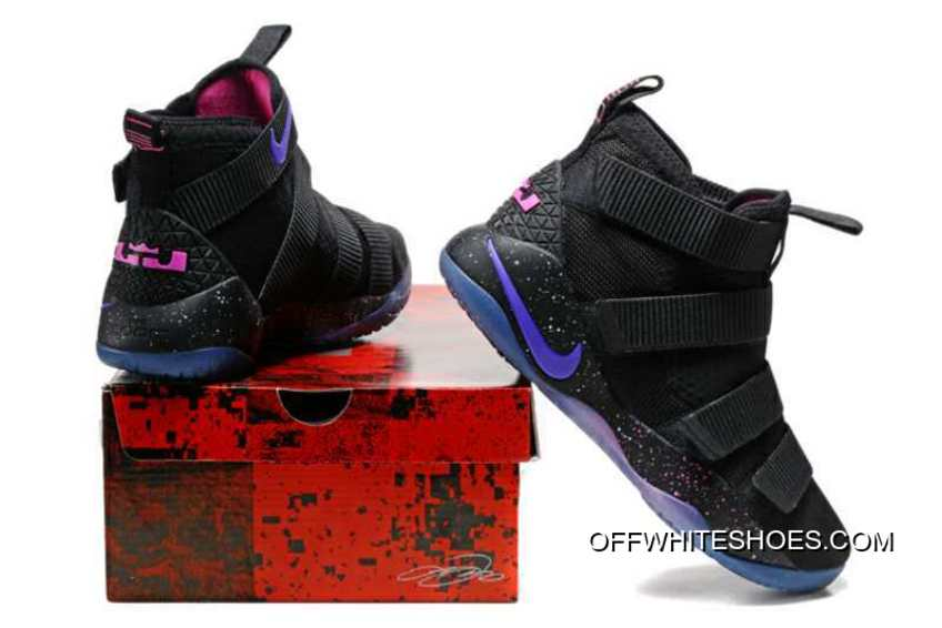 new product 4851b e0e65 Nike LeBron Soldier 11 Black Purple Pink For Sale