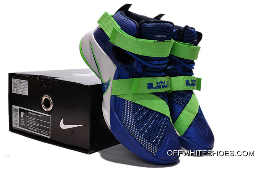 """low priced f8569 e2ada Top Deals Nike LeBron Soldier 9 """"Sprite"""" Basketball Shoe"""