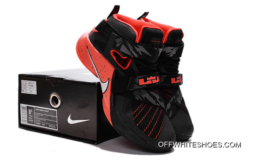 new style f9aeb 8bb0b New Style Nike LeBron Soldier 9 Black Red Basketball Shoe
