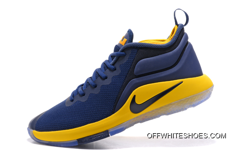73b9c25c9ec Top Deals Nike LeBron Zoom Witness 2 Navy Blue Yellow-Black Basketball Shoes