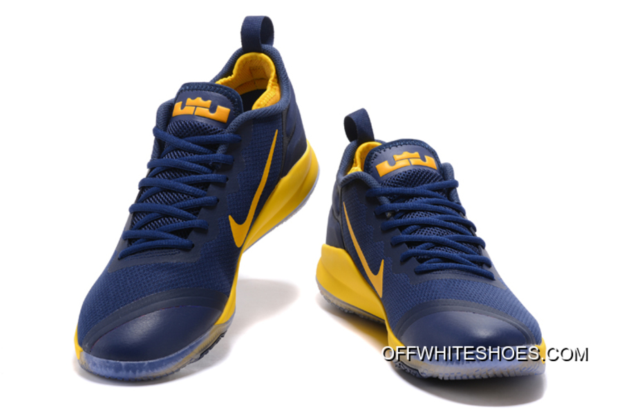 fba62a89c242 ... where can i buy top deals nike lebron zoom witness 2 navy blue yellow  black basketball