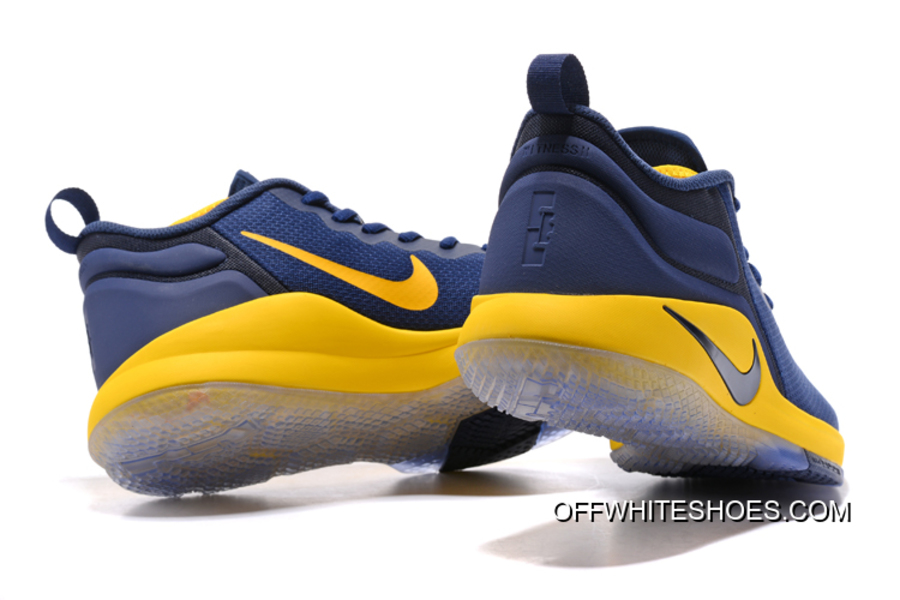 6545674fac30e Top Deals Nike LeBron Zoom Witness 2 Navy Blue Yellow-Black Basketball Shoes