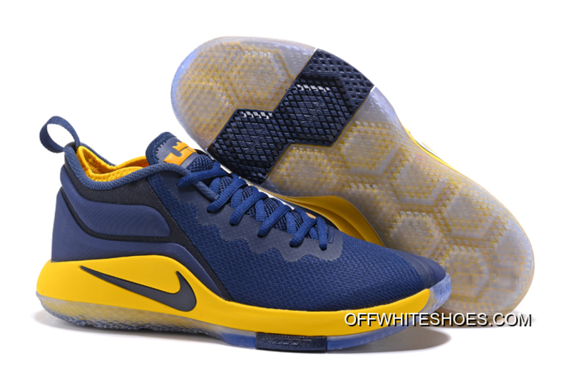 f6aa639a7163 Top Deals Nike LeBron Zoom Witness 2 Navy Blue Yellow-Black Basketball Shoes