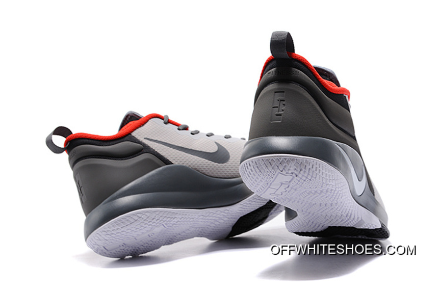 hot sale online d922b 216cd Nike LeBron Zoom Witness 2 Grey Black Red Basketball Shoes New Release