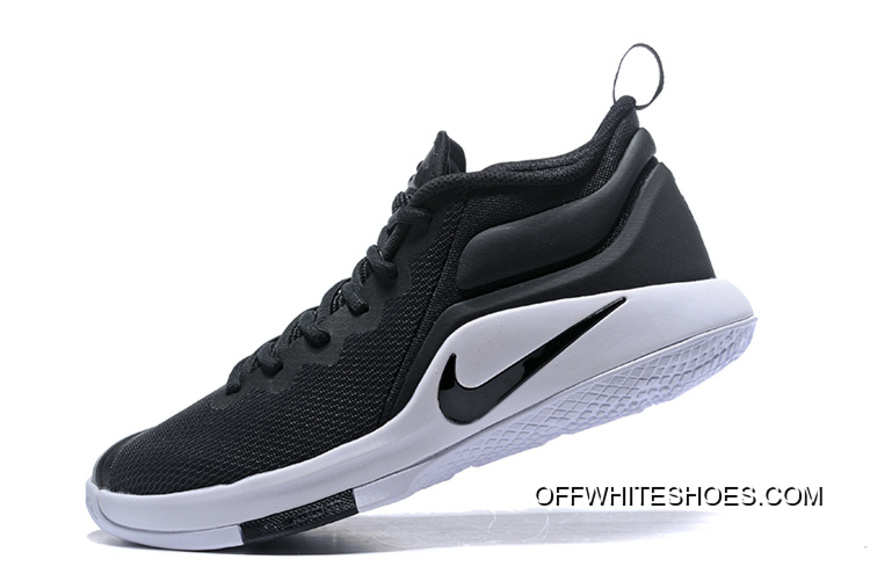 1135f7b38aee2 Outlet Nike LeBron Zoom Witness 2 Black White Basketball Shoes ...