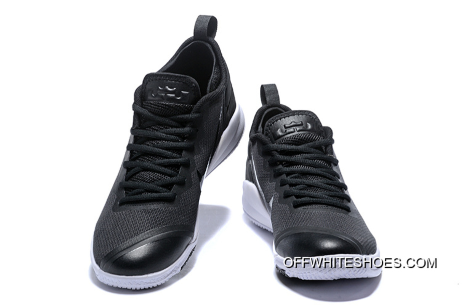 0e88a09b797c Outlet Nike LeBron Zoom Witness 2 Black White Basketball Shoes ...