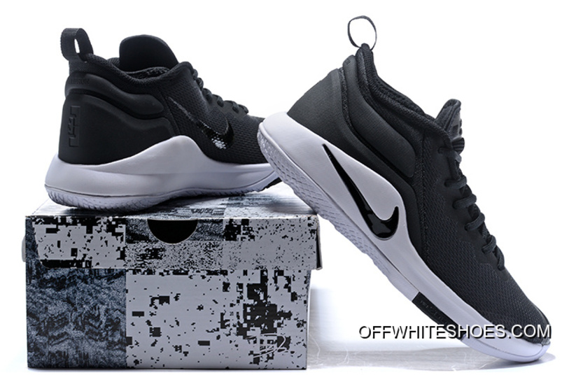 3c1c078d038aa Outlet Nike LeBron Zoom Witness 2 Black White Basketball Shoes ...